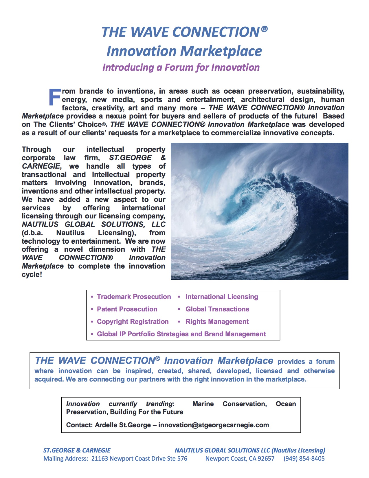 The Wave Connection Informationpdf - 180804